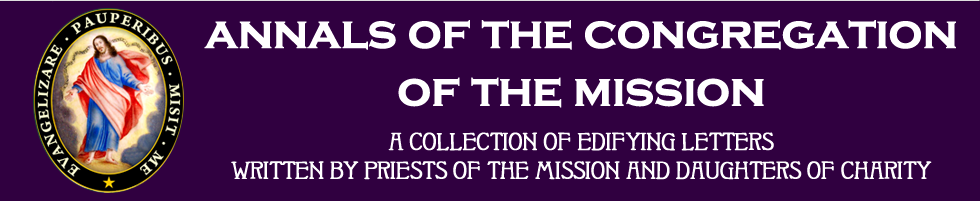 Annals of the Congregation of the Mission: A Collection of Edifying Letters