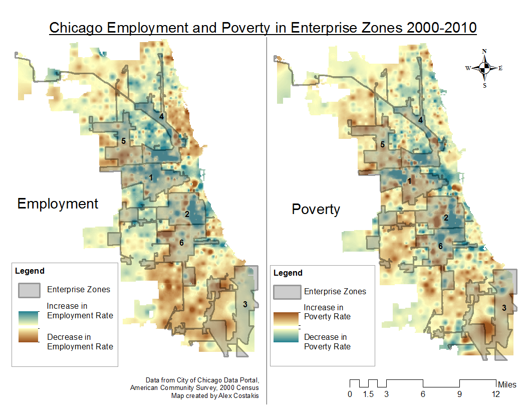 April Chicago Employment And Poverty In Enterprise Zones - Poverty map 2016