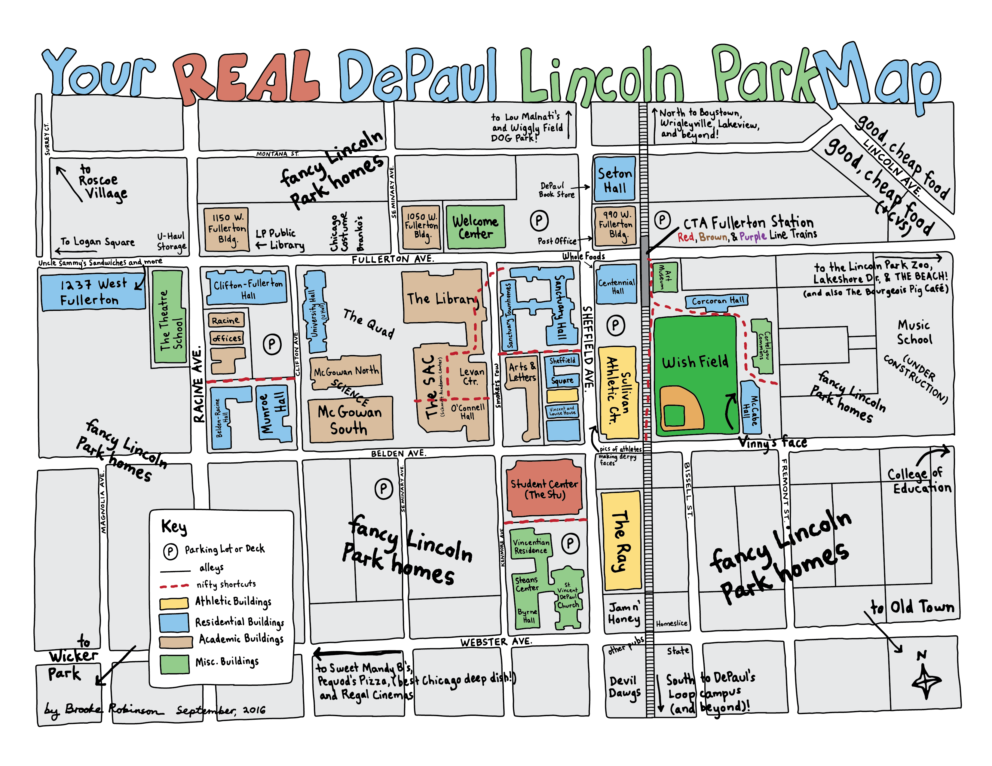 October 2016 Your Real DePaul Lincoln Park Map by Brooke Robinson