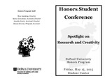 2015 Honors Student Conference: Spotlight on Research and Creativity by DePaul University College of Liberal Arts and Sciences