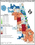 October 2013: Teenage Birth Rates and Per Capita Income in Chicago, 2009