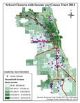 September 2013: School Closures with Income per Census Tract 2013