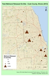 May 2014: Total Methanol Released On Site, Cook County 2012