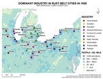March 2016, Dominant Industries In Rust Belt Cities In 1950