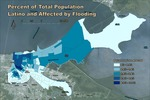 April 2017: Percent of Total Population Latino Affected by Hurricane Katrina Flooding