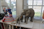 Elephant maquette for the Lincoln Park Zoo commission