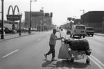 Woman Collecting Aluminum Cans, Minneapolis, Minnesota