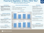"Preparing for Negotiation: Is There a ""Write"" Way?"