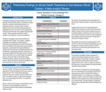 Preliminary Findings on Mental Health Treatments in Sub-Saharan African Children: A Meta-Analytic Review by Carson Schuetze and Tiamo Katsonga-Phiri